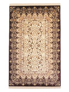"FJ Kashanian Agra Hand-Knotted Wool Rug (5'6""x8'6"")"