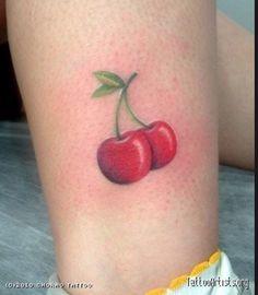 Think Tattoo, I Tattoo, Time Tattoos, Tatoos, Fruit Tattoo, Cherry Tattoos, Small Tats, Fire Nails, Cherry On Top