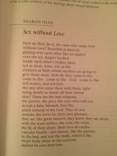 Sex without love poem