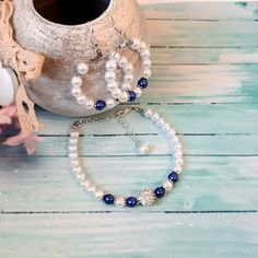 Wedding Bracelets, Wish Bracelets, Wedding Earrings, Wedding Jewelry, Name Bracelet, Pearl Bracelet, Pearl Jewelry, Bracelet Set, Groom Gifts