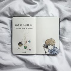 (não fique preso no sonho de outra pessoa) Bullet Journal Art, Bullet Journal Ideas Pages, Bullet Journal Inspiration, Drawing Journal, Art Sketchbook, Journal Quotes, Art Journal Pages, Drawing Quotes, Art Quotes