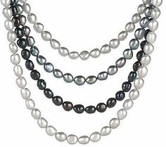 Honora Cultured FreshwaterPearl 8.0mm Baroque Multi-Row 16 Necklace