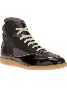 MAISON MARTIN MARGIELA Shiny Hi-Top Trainer