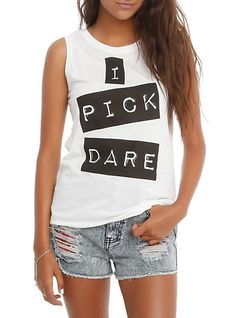 I Pick Dare Girls Muscle Top | Hot Topic