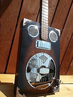 "delta Star ""blues Master"" 4 String Dobro Resonator Cigar Box Guitar - http://www.dobroguitar.org/for-sale/delta-star-blues-master-4-string-dobro-resonator-cigar-box-guitar/31368/"