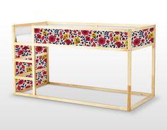 Des fleurs colorées autocollants repositionnables IKEA KURA