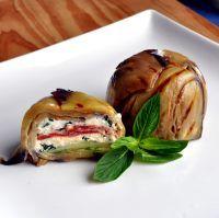 Eggplant and Persian Feta Timbale (use fat free feta)