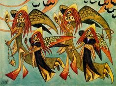 Xul Solar, Angels, 1915