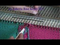 Machine Knitted Twisted Fringe by Diana Sullivan - YouTube