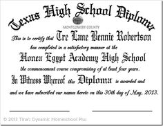 printable high school diploma template