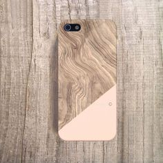 UNIQUE iPhone 4 Case Wood Print iPhone5 Case Wood by casesbycsera