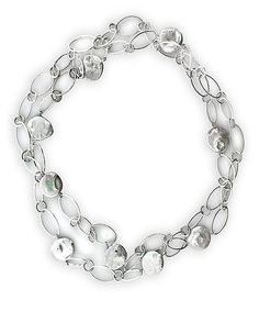 REL Jewelers White Pearl & White Gold Disk Chain Necklace   zulily