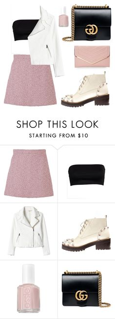 """chic"" by angeliannalcazar ❤ liked on Polyvore featuring Gucci, Anouki, Essie and Sasha"