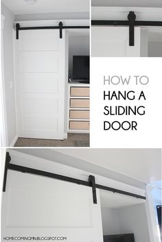 Home Coming: How to Hang a Barndoor-Inspired Sliding Door Organizar Closet, Ideas Para Organizar, Creation Deco, Home And Deco, Home Reno, Sliding Doors, Barn Doors, Closet Doors, Home Repair