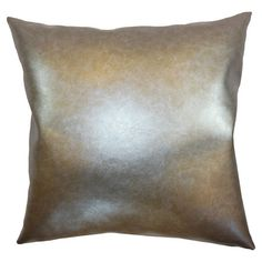 Metallic pillow with a down fill.    Product: PillowConstruction Material: Vinyl and down fillColor: ... 43.95