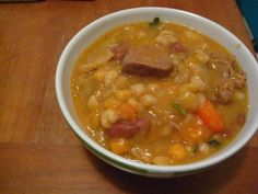 A bowl of Manchupa (also known as Cachupa), a traditional Cape Verdean stew.  I and I