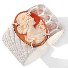 leather Cuff Bracelet with cameo at HSN.com