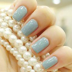 Pearls and Tiffany Nails