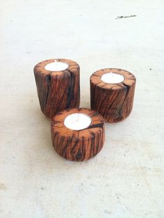 Reclaimed Cedar Candle Holders by BcCreativeDesigns on Etsy, $35.00