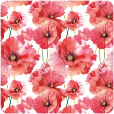 watercolor poppy patterns by Natalia Tyulkina, via Behance - great example of repeat pattern