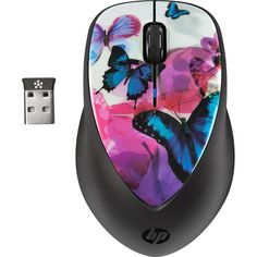 68a817e7c1e HP Butterfly Blossom Special Edition Wireless X4000 Mouse - Walmart.com