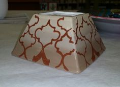 Small soup bowl made of pottery and painted and fired.