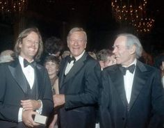 Peter Fonda, John Wayne & Henry Fonda laughing it up. ( Thank you Mara for this Mother's Day gift!)