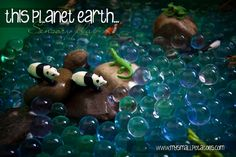 This Planet Earth Sensory Activity #earthday via @shutterlily at www.mysmallpotatoes.com