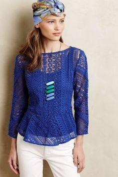 Vanessa Virginia Ethene Lace Blouse #anthrofave #anthropologie