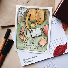 """Good news for the residents and guests of St. Petersburg. Now you can found а postcards with my illustrations in the heartwarming bookstore """"Podpisnie Izdaniya"""" at the Liteyniy Prospect 57."""