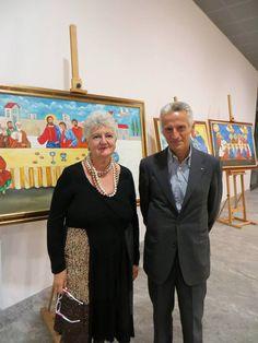 Paola Meneghetti con Riccardo Illy presso Devero Hotel.
