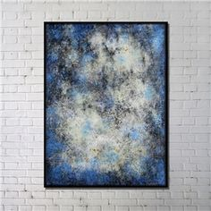Contemporary Wall Art Starry Sky Abstract Print with Black Frame 36