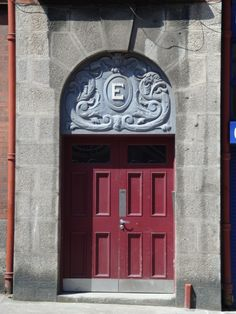 This is the door of Block E, Iveagh Trust, Bride Street. The Iveagh Trust was a social housing development started by the guiness family and still providing social housing in the city to this day.
