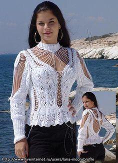 Swans Style is the top online fashion store for women. Crochet Shirt, Crochet Poncho, Diy Crochet, Crochet Tops, Stylish Tops For Girls, Crochet Woman, Crochet Fashion, Crochet Clothes, Women
