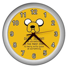 Adventure Time Jake The Dog Quotes Dude Suckin' Sucking Wall Clock Home Decor