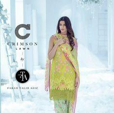 Sanam Saeed for Crimson Lawn  by Farah Talib Aziz