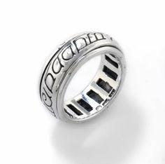 Sterling Silver Elvish Language Spinning Spin Band Ring of Power(Sizes Elvish Language, Witch Rings, Spinning, Band Rings, Silver Rings, Wedding Rings, Engagement Rings, Sterling Silver, Man Jewelry
