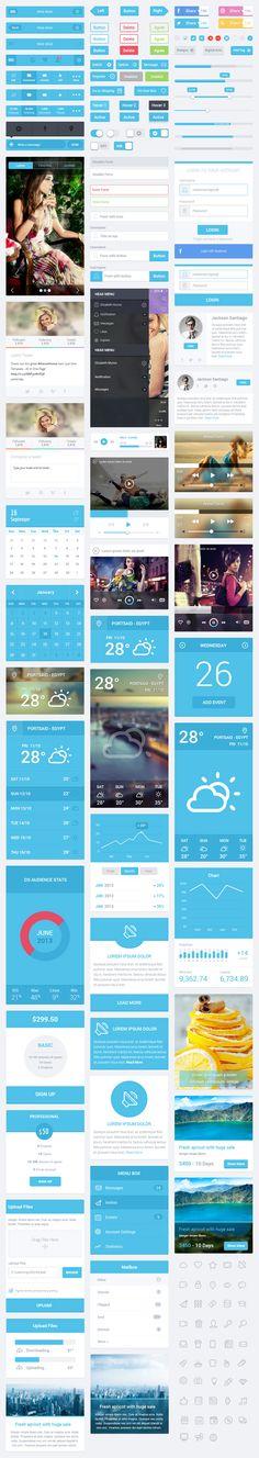 Flatastic Mobile UI Kit