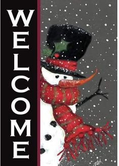 Toland Snowman Welcome x 18 Winter Christmas Double Sided Garden Flag Christmas Canvas, Christmas Paintings, Christmas Wood, Christmas Signs, Christmas Snowman, Christmas Projects, Winter Christmas, Christmas Decorations, Christmas Ornaments