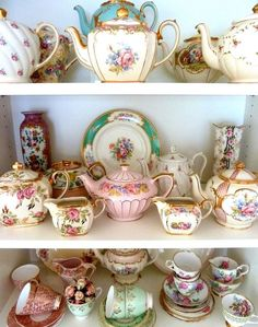 Tea party...what a great collection...