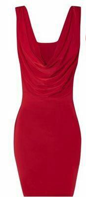 Cute cowl red dress