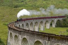 The Jacobite steam train (aka the Hogwarts Express) crosses the Glenfinnan Viaduct at the head of Loch Shiel. It& one of the most scenic railway routes anywhere. Ayr Scotland, England And Scotland, Scotland Travel, Architecture Design, Design Innovation, Overseas Travel, Family Adventure, Hogwarts, Trip Advisor