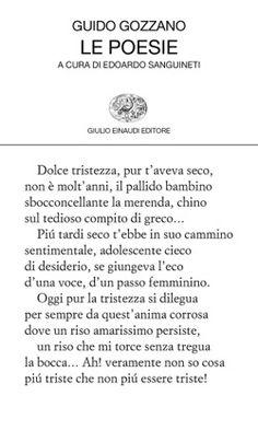 Guido Gozzano, Le poesie, Collezione di poesia