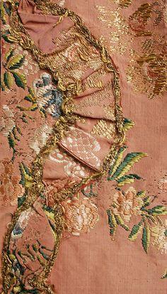Robe à la Française    Date:      ca. 1760  Culture:      French  Medium:      silk, metal thread