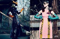 The Saskia de Brauw Interview Magazine Editorial is Elegantly Eccentric #popculture trendhunter.com