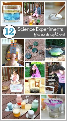 12 Science Experiments for Kids You Can Do Right Now! Great introduction to science for preschool, kindergarten and first grade! Science Activities For Kids, Kindergarten Science, Science Experiments Kids, Science Classroom, Science Fair, Science Lessons, Teaching Science, Science Projects, Preschool Activities