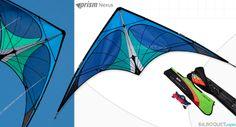 Nexus Prism Kites - Cerfs-volants pilotables 2 lignes - Cerf-volant acrobatique - Prism Kites - 69€ - Frais de port offerts Dragon Kite, Prism, Deco, General Crafts, Kite, Decor, Deko, Decorating, Decoration