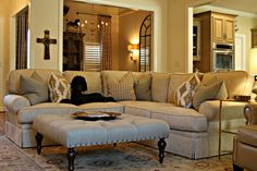 Barnett Furniture - 2015 Customer Orders- King Hickory Henson Sectional, Buy the Inch Ottoman and Comfort Design Adams Recliner