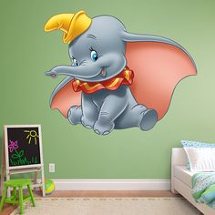 Dumbo REAL.BIG. Fathead – Peel & Stick Wall Graphic | Dumbo Wall Decal | Disney Decor | Bedroom/Playroom/Nursery