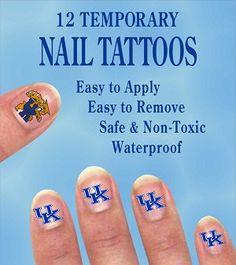 temporary nail tattoos I want some of these! Raiders Nails, Tattoo Uk, University Of Ky, Nail Tattoos, Texas Tech Red Raiders, Arkansas Razorbacks, Kentucky Wildcats, Jamberry Nails, Alabama Crimson Tide